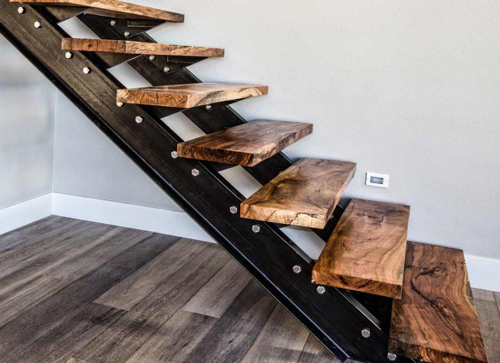 Custom Stairs Texas Pecan Wood