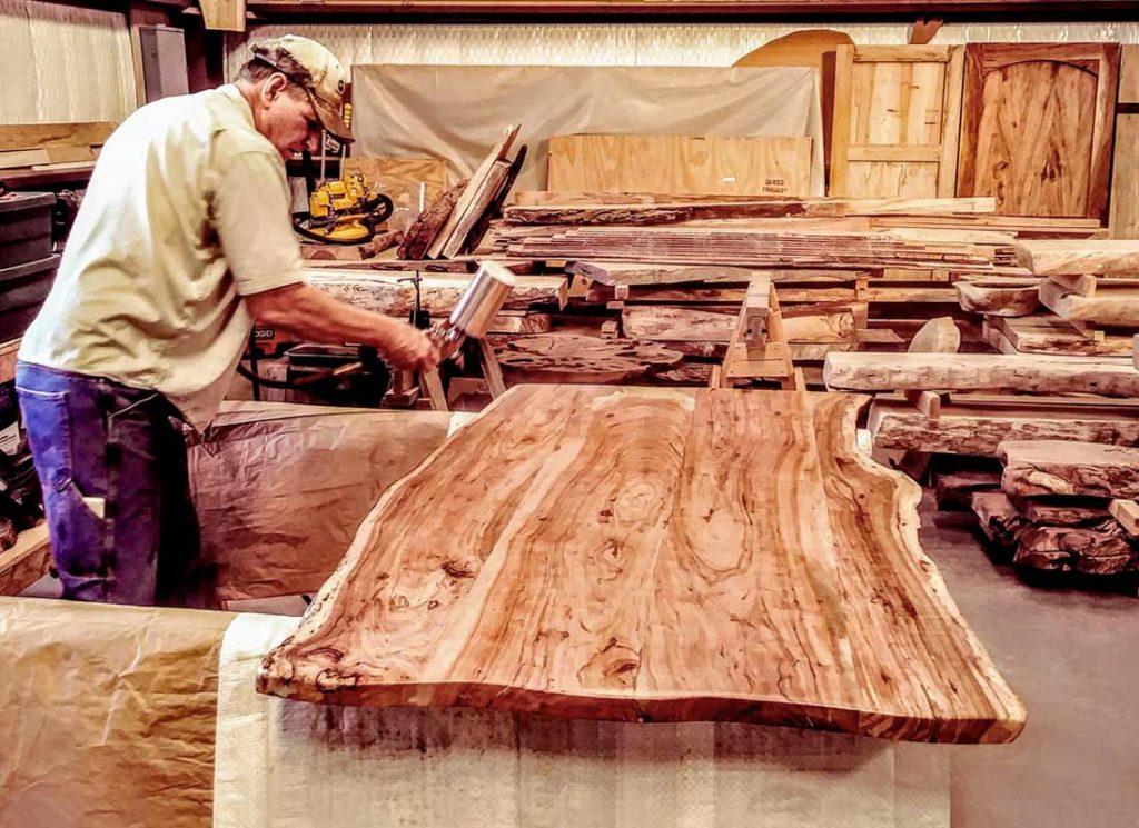 Custom Slabs and Milled Lumber Texas Pecan Wood 02