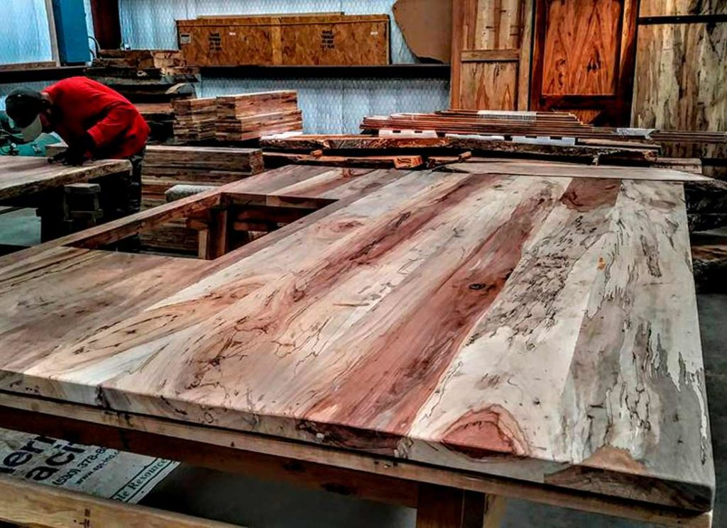 Custom Slabs and Milled Lumber Texas Pecan Wood 06