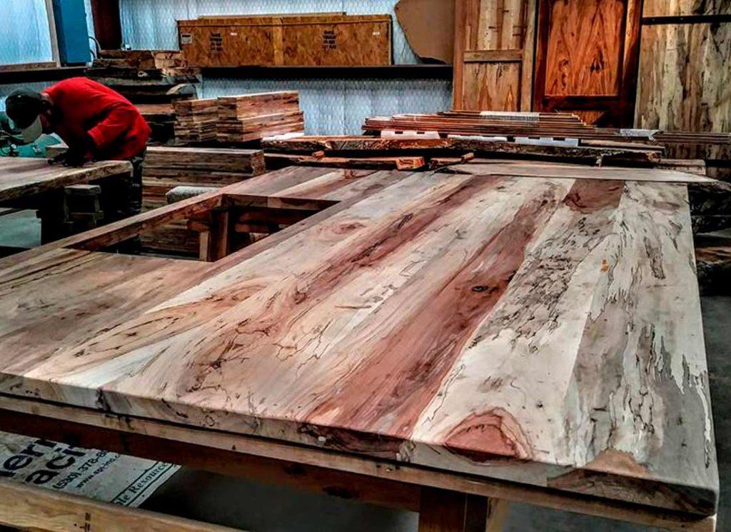 Custom Slabs and Milled Lumber Texas Pecan Wood 06