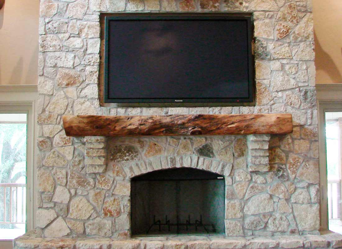 Fireplace Mantle06 Texas Pecan Wood