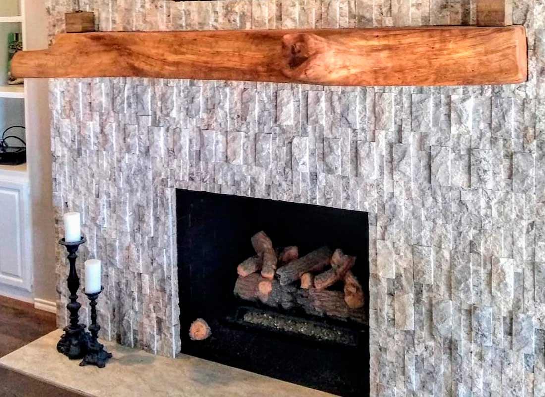 Mantle11 Texas Pecan Wood