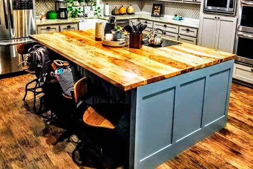 Gallery of Custom Wood Countertops Texas Pecan Wood 02