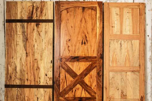 3 different type of custom wood doors Texas Pecan Wood
