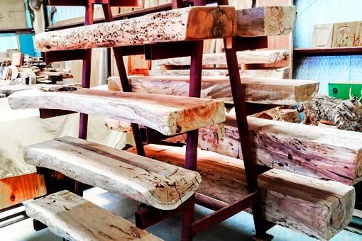 Gallery of Custom Woom Mantles Texas Pecan Wood 07