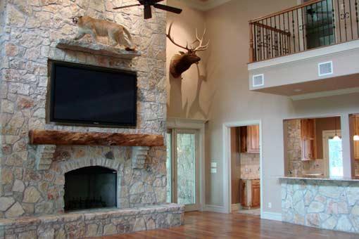 Gallery of Custom Woom Mantles Texas Pecan Wood 06