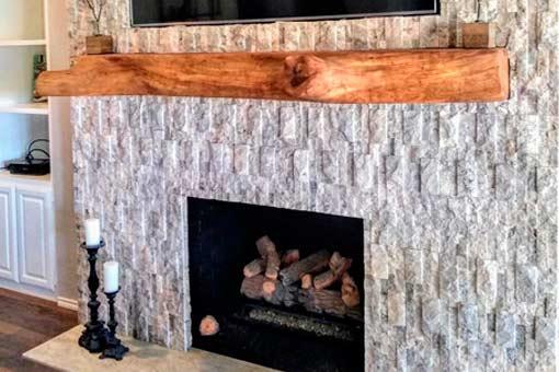 Gallery of Custom Woom Mantles Texas Pecan Wood 02