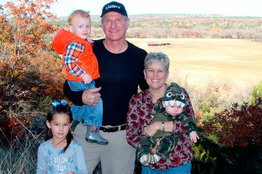 The owners of Texas Pecan Wood, Rocky Patti and grandkids