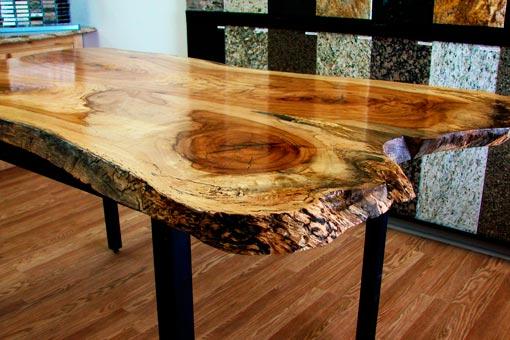 Gallery of Custom Wood Tables Texas Pecan Wood 03