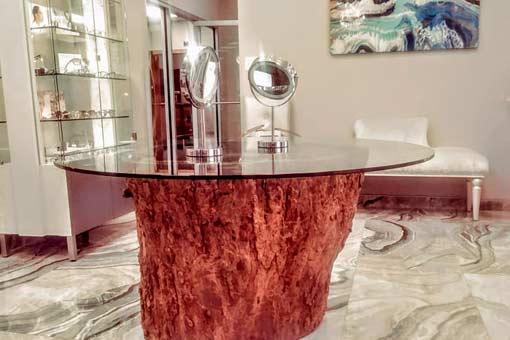 Gallery of Custom Wood Tables Texas Pecan Wood 01